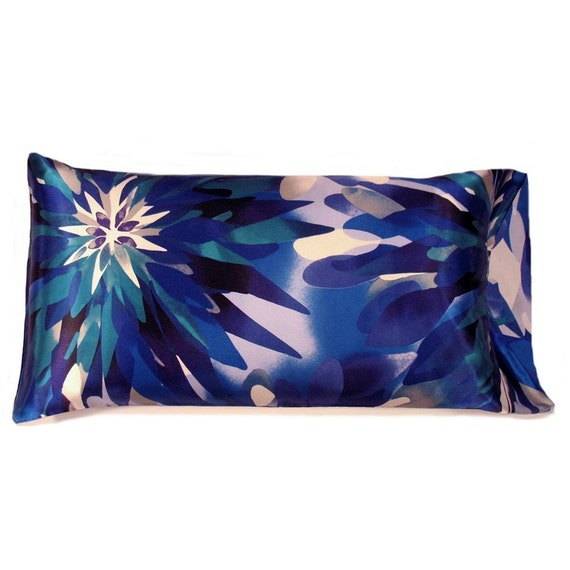 Blue king size satin pillowcases satin pillow case revives for Dreamfinity king size pillow