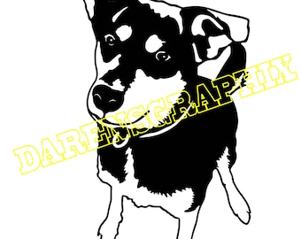 DXF File of a dog for use with a cnc machine