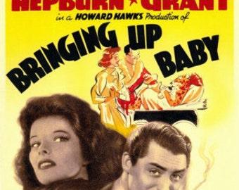 Bringindg Up Baby Katharine Hepburn Cary Grant  Rare Vintage Poster