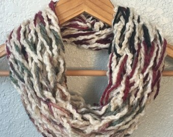 Arm Knit Scarf, Winter Scarf, Inifinity Scarf
