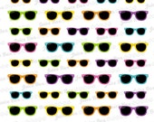 Set of 54 Multicolored Sunnies Stickers