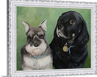 """Photo into painting, 2 Pets, 20""""x24"""", unframed - pictures to oil paintings by professional artists!"""