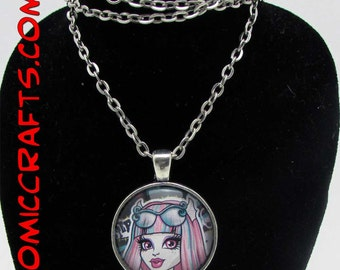 Monster High  Pendant With Matching Necklace