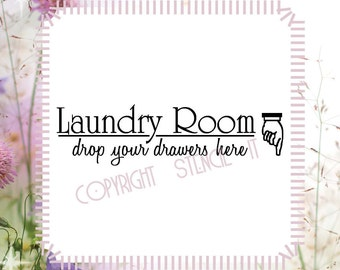 Laundry Room Wall Decals and Stencils