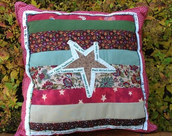 Star Selvage Pillow