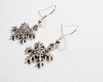 Snowflakes Earrings, Dangle Earrings, Snowflakes Jewelry, Snowflakes Earring