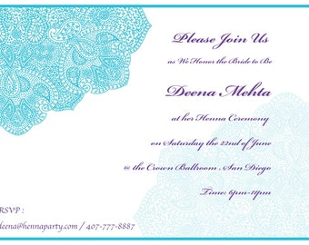 Ethnic design card baby shower card bridal shower card elegant hennamehendi party invitation card sangeet card bridal shower godh bharai stopboris Image collections