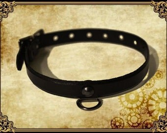 Cat Glover dyed genuine leather collar