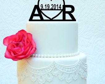 Custom Modern Wedding Cake Topper 4' (item number 10013)
