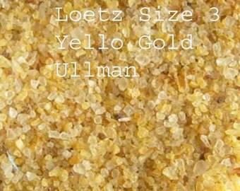 Ullman Loetz Yellow Gold COE 96 Glass Frit 1 OZ  K-3
