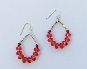 Radiant peony Earrings