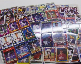 VINTAGE Mixed Lot 'A' Baseball Card Hand Set