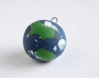 Earth Ornament -- Miniature Polymer Clay Jesse Tree Ornament -- Creation