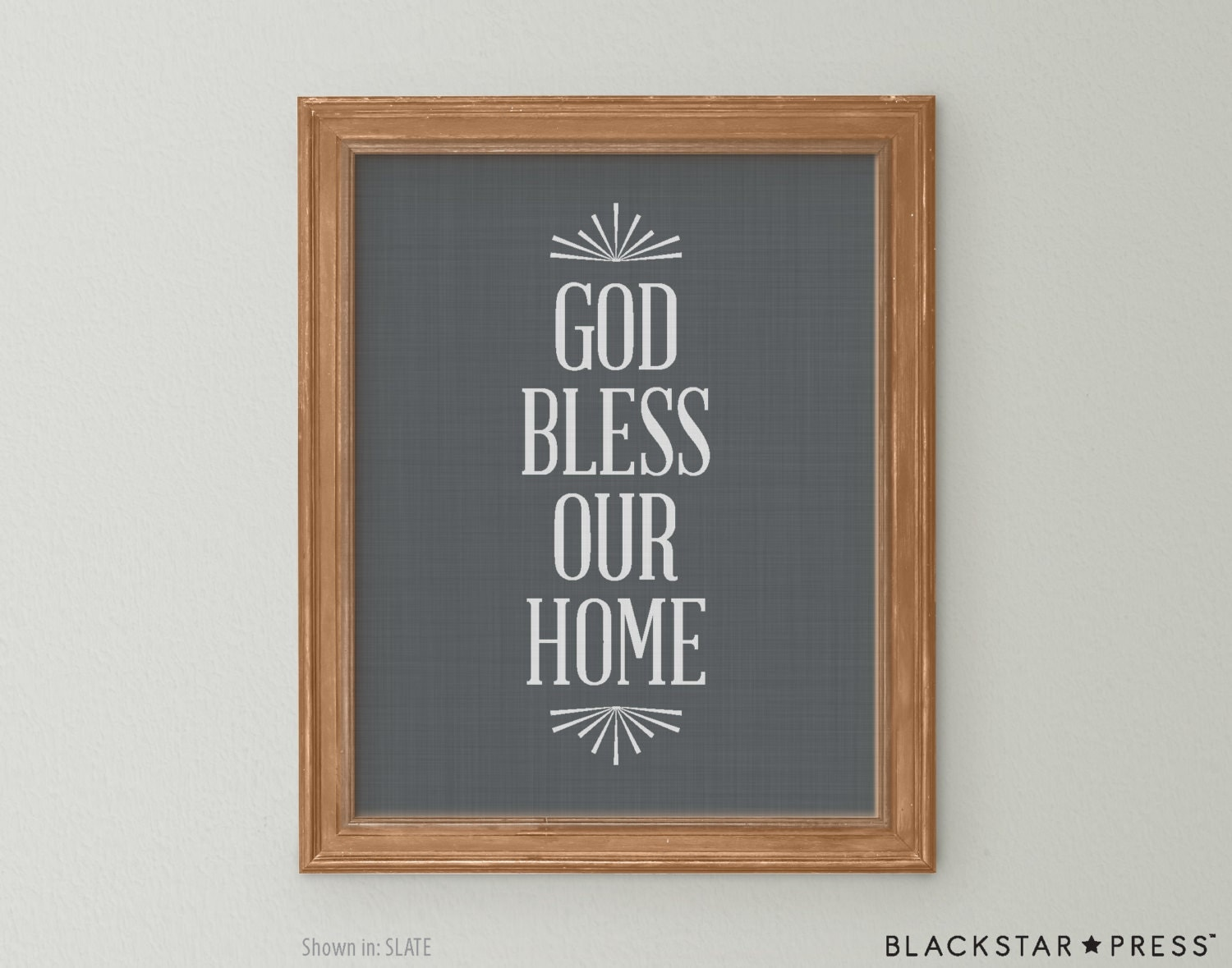 God bless our home quote grey and white wall decor god bless for Our home decor