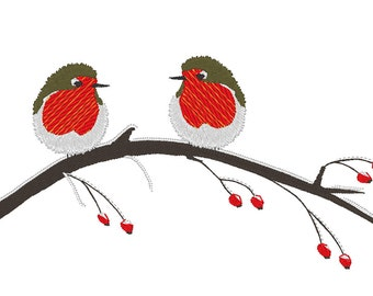 Robins on Winter Branch