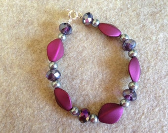 Beaded Bracelets to match with earrings or to wear alone.