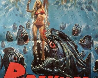 Movie science fiction Piranhas poster