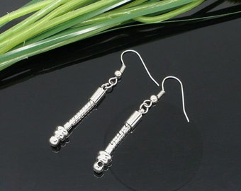 8Pcs Silver Tone Dangle European Earrings