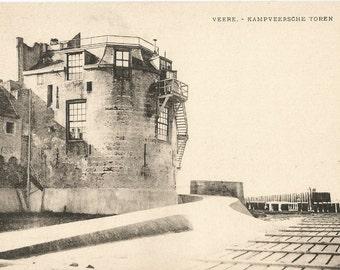 Veere,  Netherlands  -  Kampveersche Toren, Antique ca. 1915 Unused Postcard