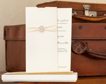 Boxed Wedding Invitation, Invitation Pockets, Wedding Invites, Luxury Invitations, Crystal Invitations, Elegant Invitations, Thetis