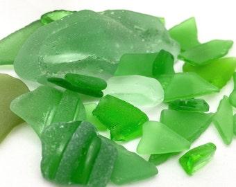 Green sea glass photo