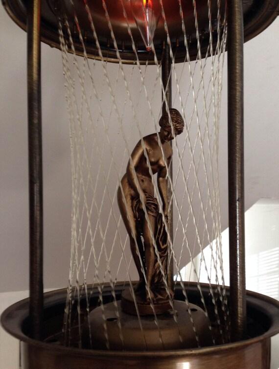 Lampe à huile pluie rétro vintage au milieu du siècle moderne de