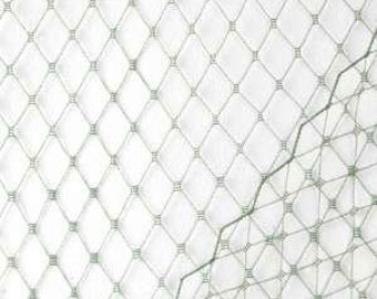 1 Yard SILVER Birdcage Veil Netting  - Hair Accessory Supplies - DIY - Create Your Own