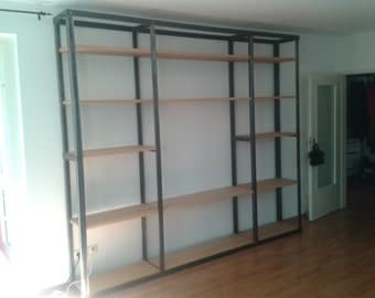 Handmade industrial bookcase