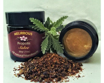 Bee Propolis healing salve. All natural and organic, 30 gr ( 1oz)