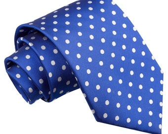 Polka Dot Royal Blue Tie