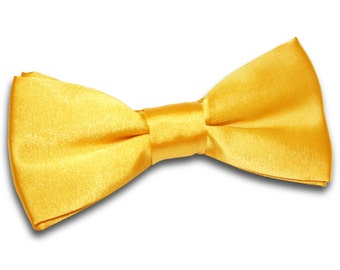Satin Marigold Bow Tie