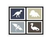 Dinosaur (set of 4) (NEUTRAL SOLID colors)