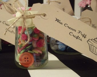 Assorted Recycled Button Jar