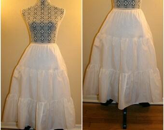 1950's Vintage White Full Petticoat