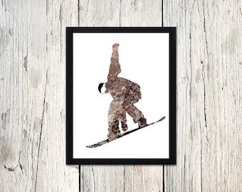 Snowboard, Snowboard Art, Snowboard Baby, Burton Snowboard, Snowboarding, Sports Wall Art