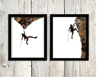 Rock Climbing Art, Rock Climbing, Extreme Sports, Mountain Climbing, Bouldering, Climbing Artwork, Rock Climbing Gift