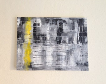 Original Abstract Oil Painting on Canvas 'Yellow'
