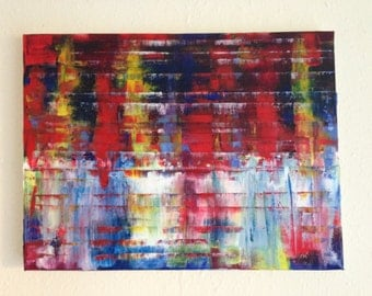 Original Abstract Oil Painting on Canvas 'Metamorphic'