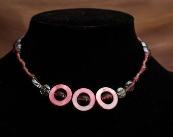 Funky pink necklace