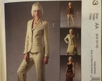 McCall's Misses' Wardrobe Pattern M5063 Jacket, Pants, Skirt and Top