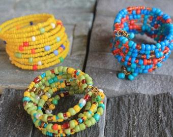 African masai inspired girls bracelets.