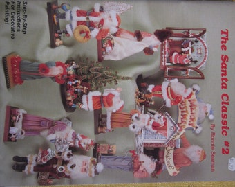 The Santa Classic #2 by Bonnie Seaman, patterns and instructions for making all sorts of Santa decorations,14 projects