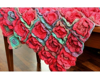 Crochet Pattern Summer Melody Blanket - Digital file PDF