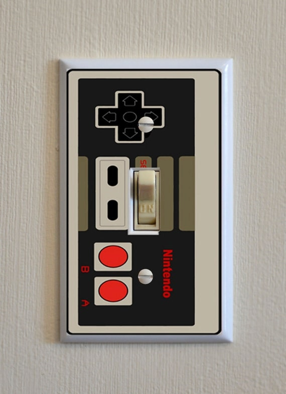 Nintendo Controller Light Switch Wall Plate By