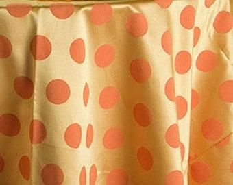 Covington Fancy Dot Tangerine Fabric
