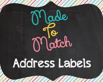 Printable Made To Match Address Labels - Made To Match Any Invitation Design In The Shiny Sparkly Parties Shop