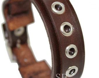 SB genuine leather bracelet handmade leather wristband first class leather cuff wrist band mens leather bracelet