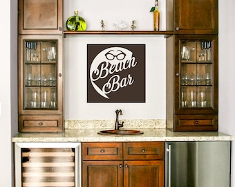 Beach Bar with Sunglasses Vinyl Wall Graphic Decal Sticker ~ Item 0154