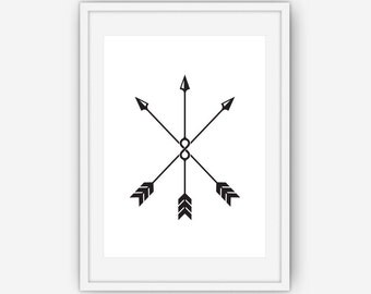 Infinity Arrow Print, Black and White Wall Art, Arrow Print, Infinity Print, Arrow Print, Printable, Instant Download
