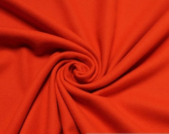 Fabric wool cashmere orange warm Lambswool not scratchy soft